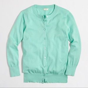 nwot • j. crew • the clare cardigan in mint green